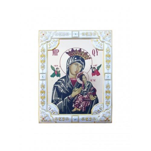 Ikona Srebrna Matka Boska Nieustającej Pomocy IK1C-03SZR