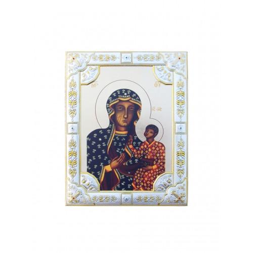 Ikona Srebrna Matka Boska Częstochowska IK1C-04SZR