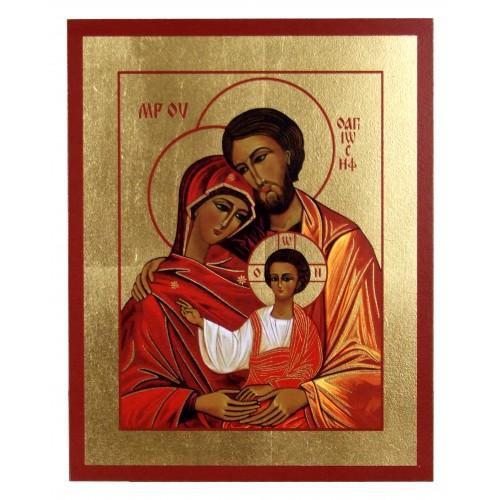 Ikona Złocona Święta Rodzina IK B-01