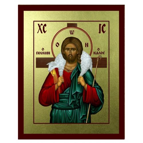 Ikona Złocona Chrystus Dobry Pasterz IK C-18