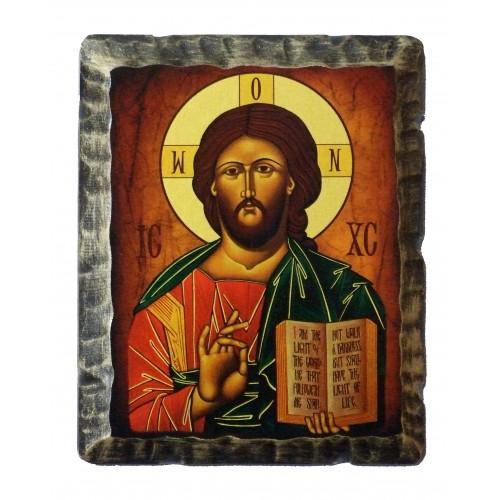 Ikona Stylizowana Chrystus Pantokrator IKN D-13