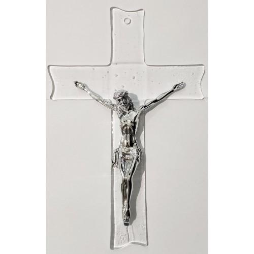 Szklany Krzyż wiszący MA1906/M, 18x27 @
