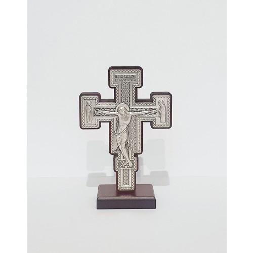 Krzyż Benedyktyński metalowy stojący S2415/810BS, 7x10